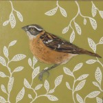 Grosbeak with Sage Leaf Pattern